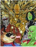 GOTG artist proof commission by mdavidct