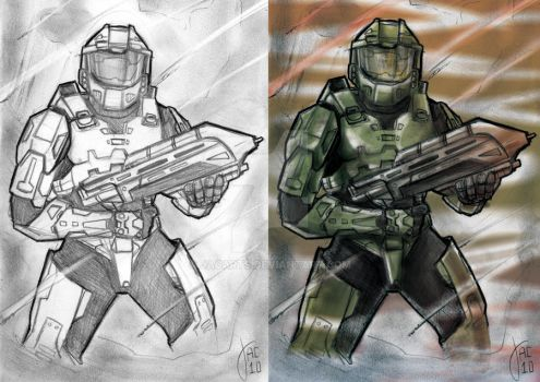 Halo - Master Chief by jacArts