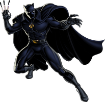 Marvel Avengers Alliance Black Panther by ratatrampa87