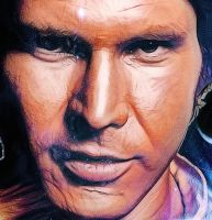 Han Solo Leia StarWars  poster Detail 3 by notjustone