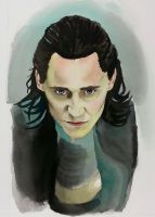 Loki Face Study by Kauriga