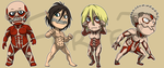 Stickers: Attack on Titan Set 4 by forte-girl7