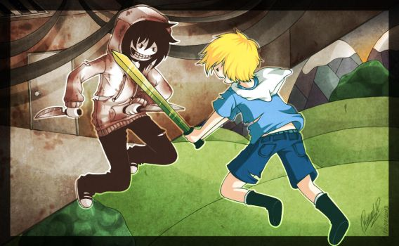 .:Jeff The Killer VS Finn The Human:. by PuRe-LOVE-G-S