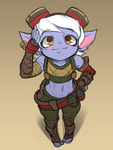 Visual updated Tristana sketch by Nestkeeper