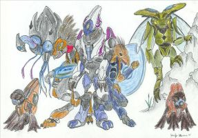343 Halo Drawing by magrunemoon