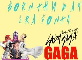Lady GaGa Ultimate Born This Way Fonts Pack by Elliott-Lee-Blogger