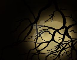 Halloween Moon Signed by DebsDigitalPaintings