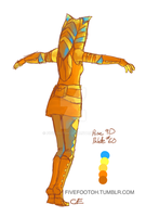 Color Palette Challenge: Ahsoka Tano by fivefootoh