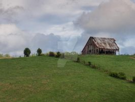 Old Barn on the Hill by wmtoddtripp