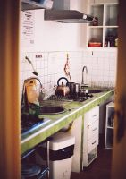 Roma hostel's kitchen by stefa-zozokovich
