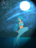 A Mermaid Under The Moonlight by kurohime27
