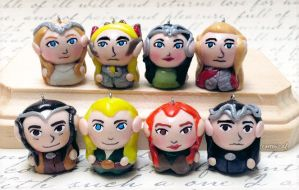 Middle Earth Elves Chibi Charms by Comsical