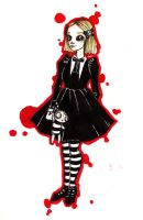 Gothic Lolita Lenore by chocolatehomicide