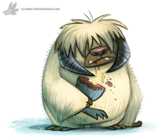 Daily Paint #1001. Wampa (FA) by Cryptid-Creations