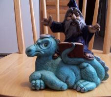 Wizard With Dragon by MadForHatters