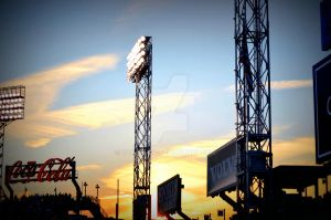 Dusk at Fenway Park by ruthelane