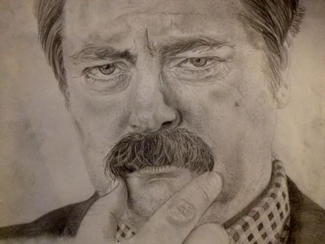 Ron Swanson by ArmageddonOuttaHere