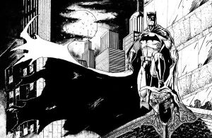 Batman - black and white by diabolicol