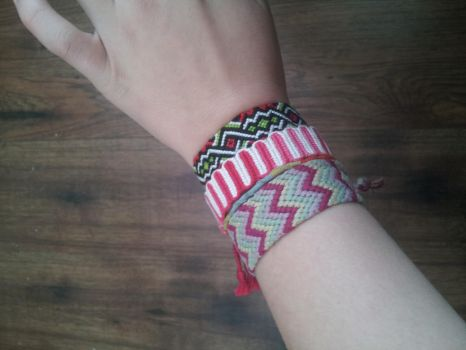 Some more bracelets! by NightyNighttt