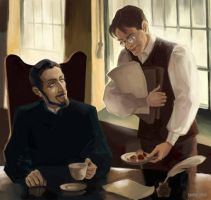 A hard day of Vetinari. Early morning. Drumknott by ZarKir