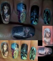 Pirates of the Caribbean mermaids nail art by amanda04
