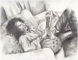 Joe Perry in Repose by supermodelxrobot