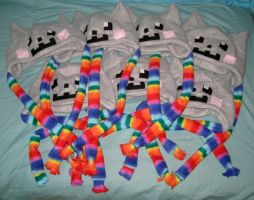 Nyan Cat hat x 7 by Neon-Juma