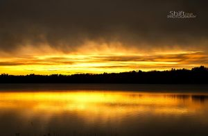 Sunset over the lake by ShiftonePhotography