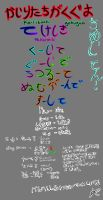 te form japanese hiragana by Empty-Frames