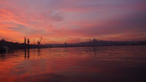 Sunrise Over The Golden Horn, Istanbul by Navvyblue