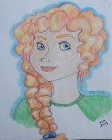 Merida watercolor by happyeverafter