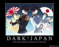 Dark Japan Motivational Poster by 0Eve