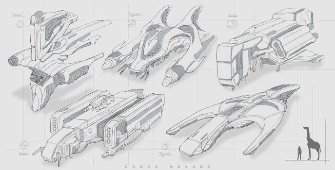 ve spacecraft fighters by landobaldur