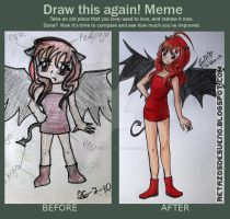 DRAW THIS AGAIN 2010.2013- Demon girl by Lucia-95RduS