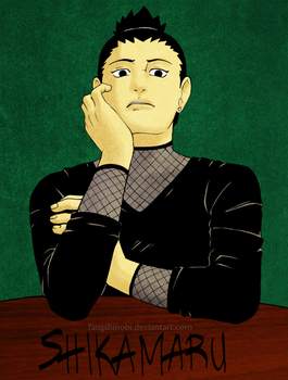 Shikamaru - colored by fangshinobi