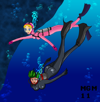 MGM and ZFM Scuba S collab 2 by MegaGundamMan