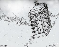 Tardis - QUICK SKETCH by ArchiFrancis