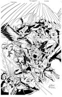 Savage Hawkman #14 Cover by aethibert