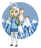 Fionna and Cake by kaebii