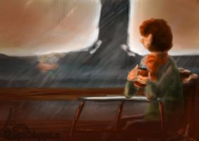 One Hour Painting #2 - Cafe by FantasyGold