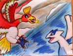 Ho-oh and Lugia by TheArtFans-9966