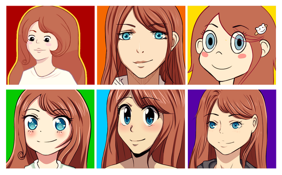 Drawing in Different Styles by JelfS
