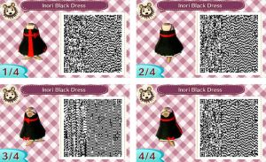 ACNL Inori Black Dress QR Code by CaMeow-030