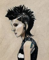 Lisbeth Salander - The Girl With The Dragon Tattoo by NikkiMcB