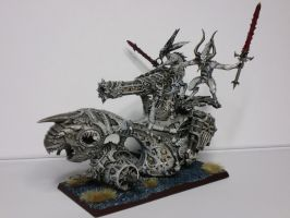 Skull Cannon of Khorne Black and White view 1 by McGoe