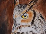 Great Horned Owl by EdgedFeather