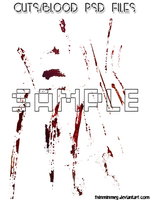 Blood and Scratches Cuts Real Blood PSD Files by thinminmeg
