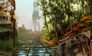 Approach to City 17 by Wee-Froggy