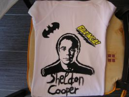Sheldon Cooper T-shirt by Laurenvamp