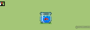 301/365 pixel art : 16x16 Fish Bowl by igorsandman